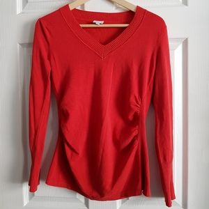 Curve Fitted Vneck Long Sleeve Top
